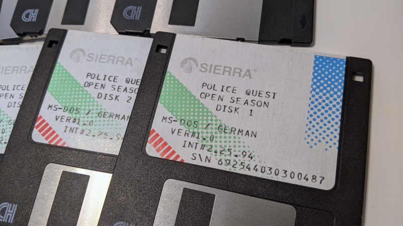 Sierra On-Line Game Police Quest Open Season - German