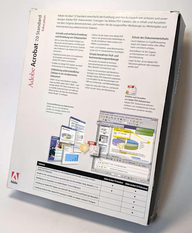 Adobe PC-Software Acrobat 7.0 Standard Big Box Deutsch