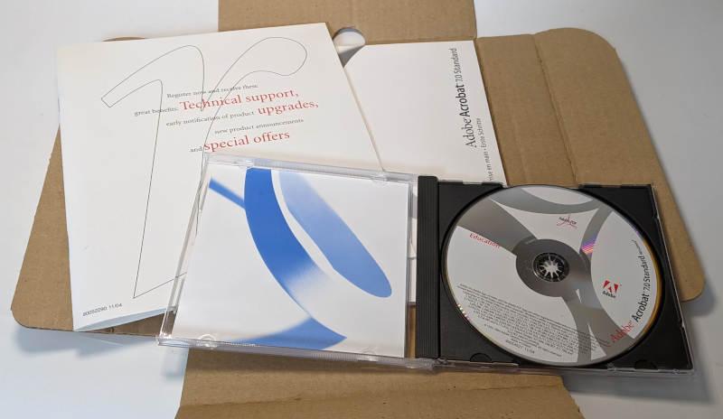 Adobe PC-Software Acrobat 7.0 Standard CD-ROM Handbuch
