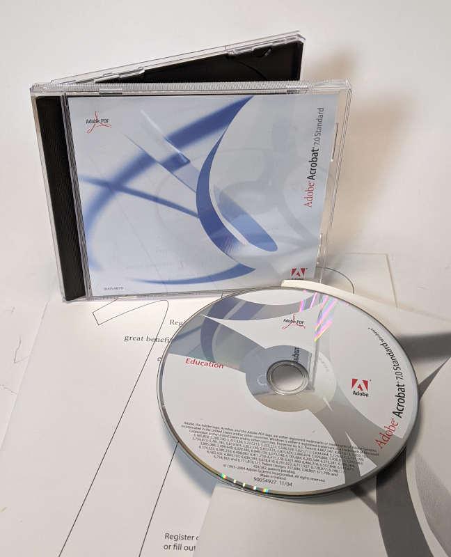Adobe PC-Software Acrobat 7.0 Standard CD-ROM