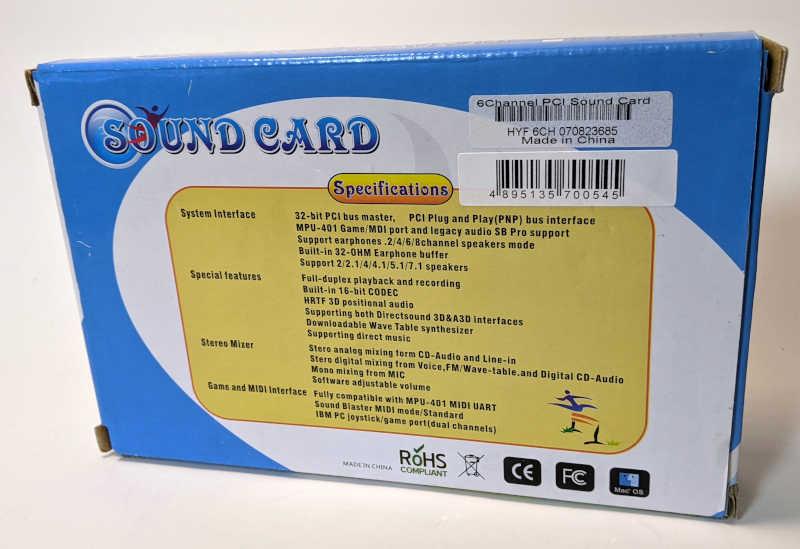 C-Media Electronics CMI8738 / 8768 Soundkarte PCI HYF6CH070823685