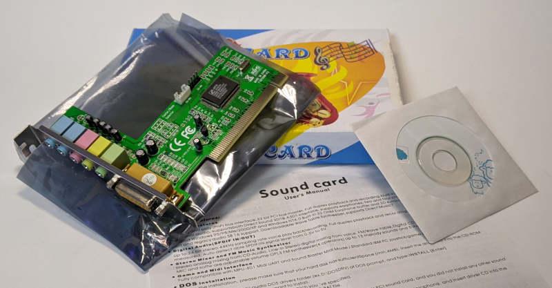 C-Media Electronics CMI8738 / 8768 Soundkarte PCI Treiber CD Verpackung