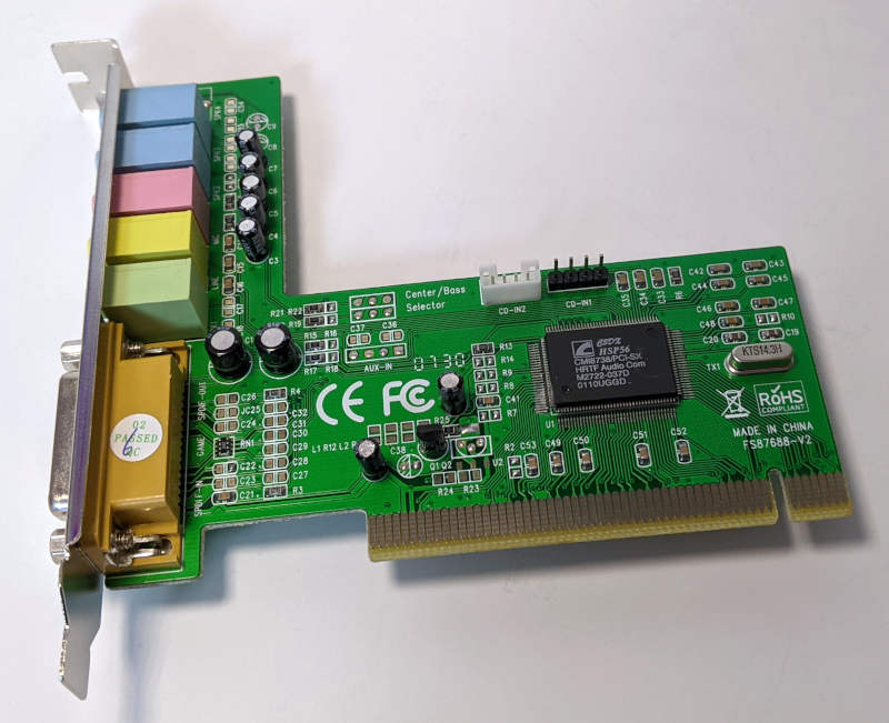 C-Media Electronics CMI8738 / 8768 Soundkarte PCI Audio HSP56 HRTF Audio Com