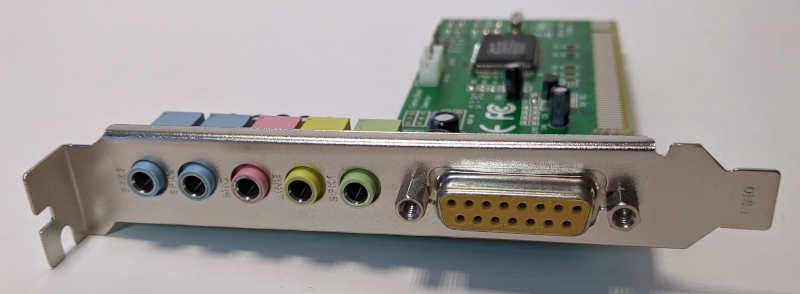 C-Media Electronics CMI8738 / 8768 Soundkarte PCI Audio Stecker Gameport