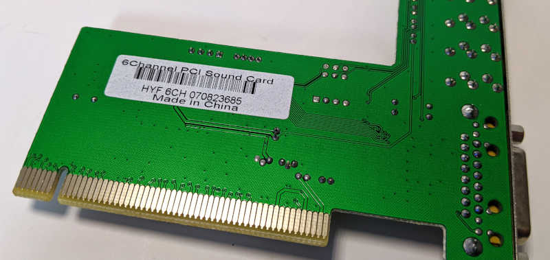 C-Media Electronics CMI8738 / 8768 Soundkarte PCI Audio Platine