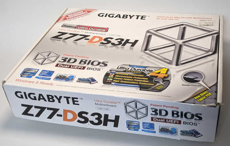Gigabyte PC-Mainboard GA-Z77-DS3H Originalverpackung Box