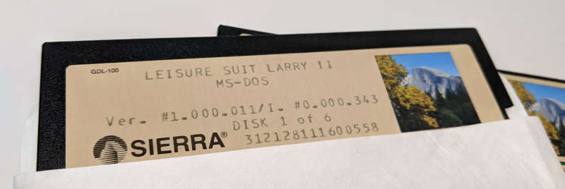 Sierra On-Line Game Leisure Suit Larry 2 - Goes Looking for Love - MS-DOS Ver. 1.000.011