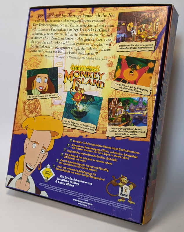 PC-Spiel The Curse Of Monkey Island 3 - Lucas Arts - Big Box - Deutsch