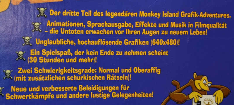 PC-Spiel The Curse Of Monkey Island 3 - Lucas Arts - Hersteller Beschreibung