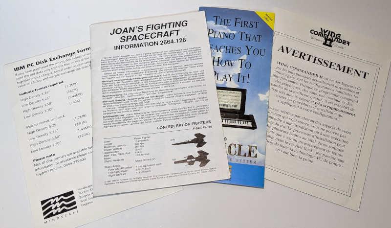 Origin Wing Commander II – Vengeance of the Kilrathi - Manual - Handbuch