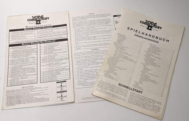 Origin Wing Commander II – Vengeance of the Kilrathi - Referenzkarte