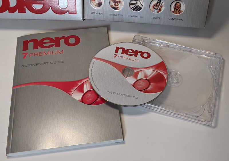Nero 7 Premium Brennprogramm CD-Recording Software Handbuch CD-ROM Jewelcase