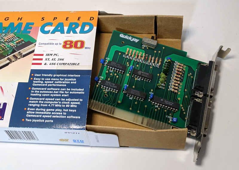 PC Game Card ISA Quickjoy SV-211 Joystick-Karte 15-Polig