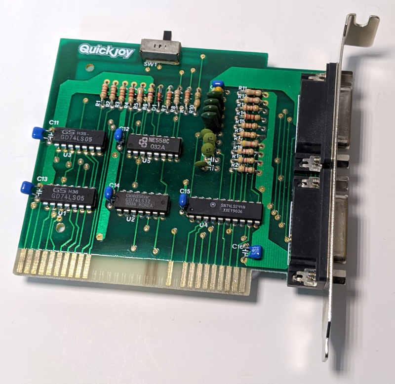 PC Game Card ISA Quickjoy SV-211 Joystick-Karte 15-Polig Platine