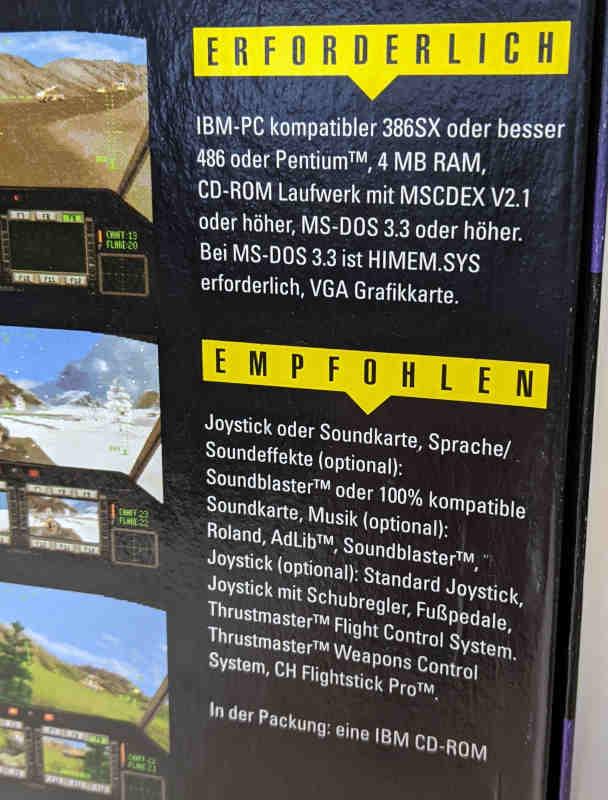 PC-Spiel Comanche CD Helikoptersimulation mit 100 Missionen Systemanforderungen