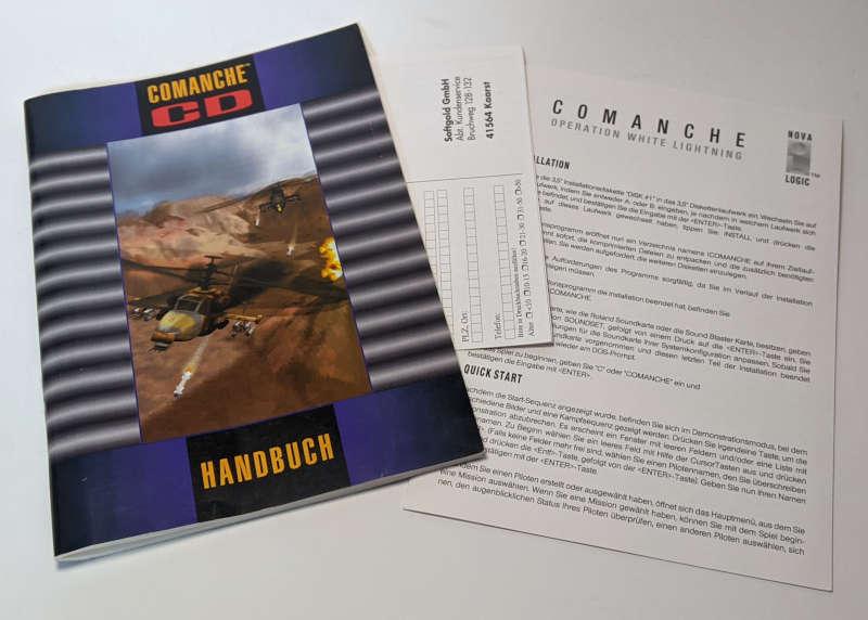 PC-Spiel Comanche CD Helikoptersimulation mit 100 Missionen Handbuch Manual