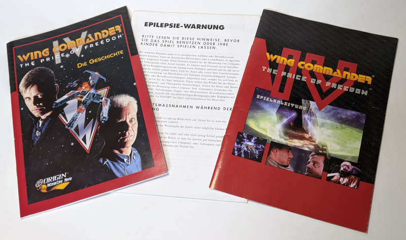 PC-Spiel Wing Commander IV - The Price of Freedom - Handbuch