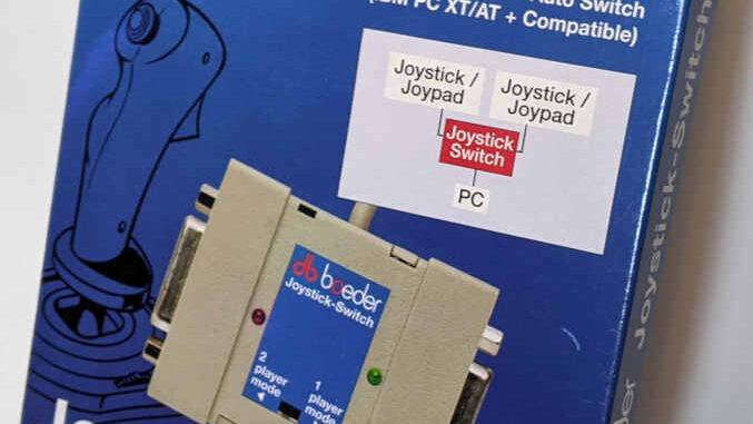Boeder Joystick Switch Gameport für PC - 2 Player - Originalverpackung