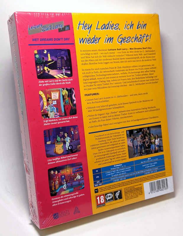 PC-Spiel Leisure Suit Larry in Wet Dreams Don't Dry Original-Box German