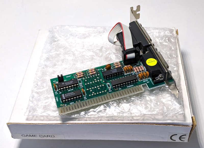 Noname PC Game Card ISA 8-Bit DOS für Joysticks - 2 Analog Ports - Originalverpackung