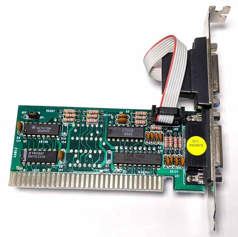 Noname PC Game Card ISA 8-Bit DOS für Joysticks - Q.C. Passed