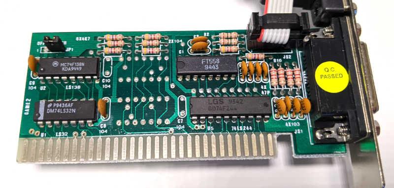 Noname PC Game Card ISA 8-Bit DOS für Joysticks